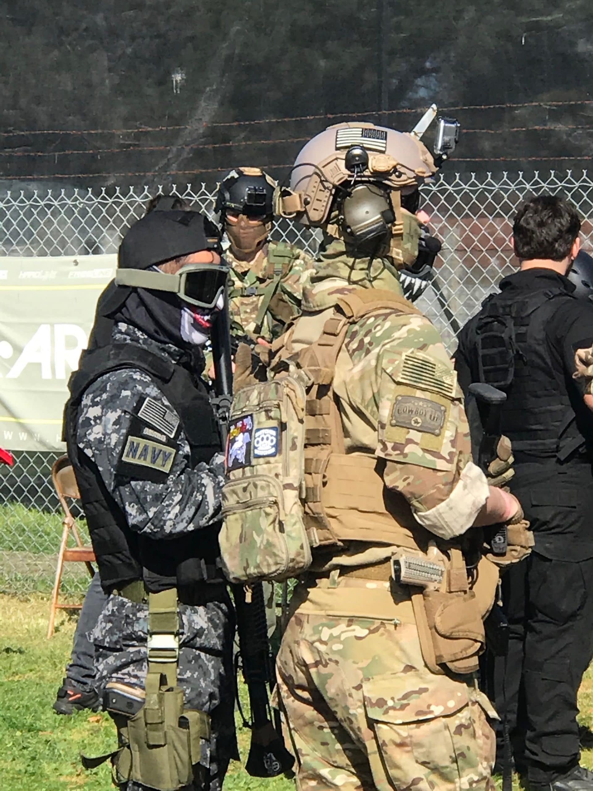 Photo of Airsoft players