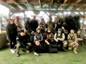 Photo of Airsoft group after match