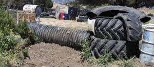 Photo of tires on Bunker Hill course