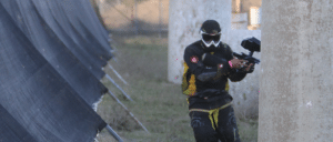 Photo of paintball player