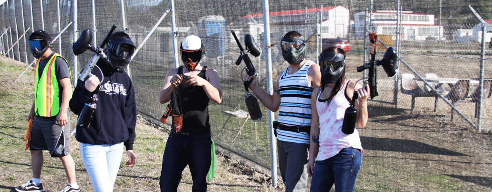Photo of paintball group