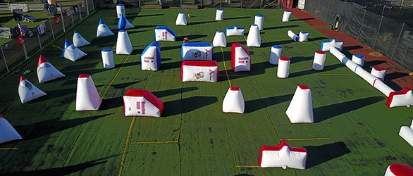 Photo of inflatable Speedball course