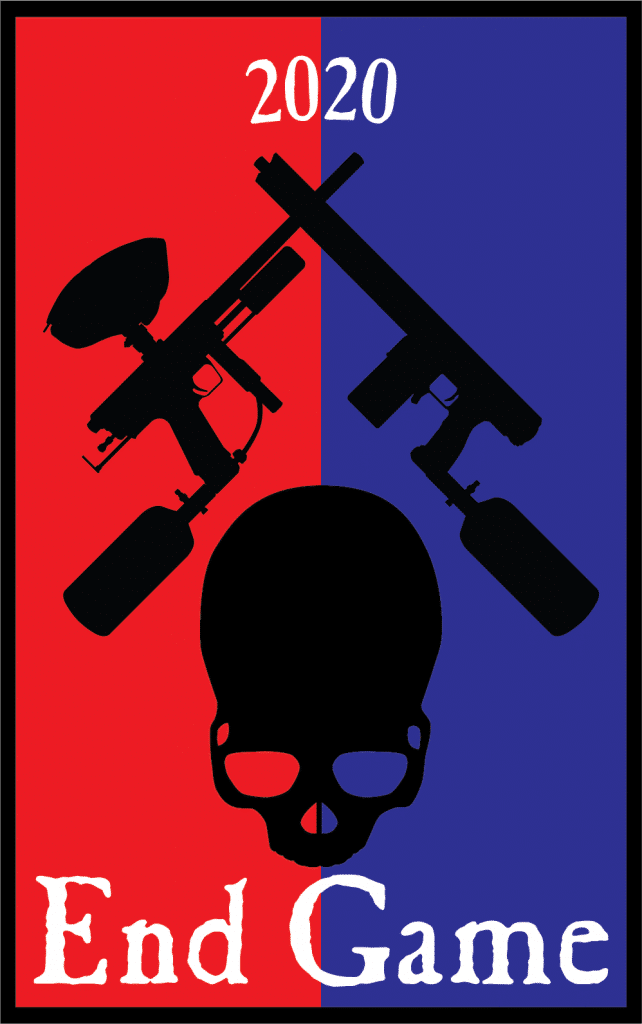Red and Blue End Game 2020 Logo