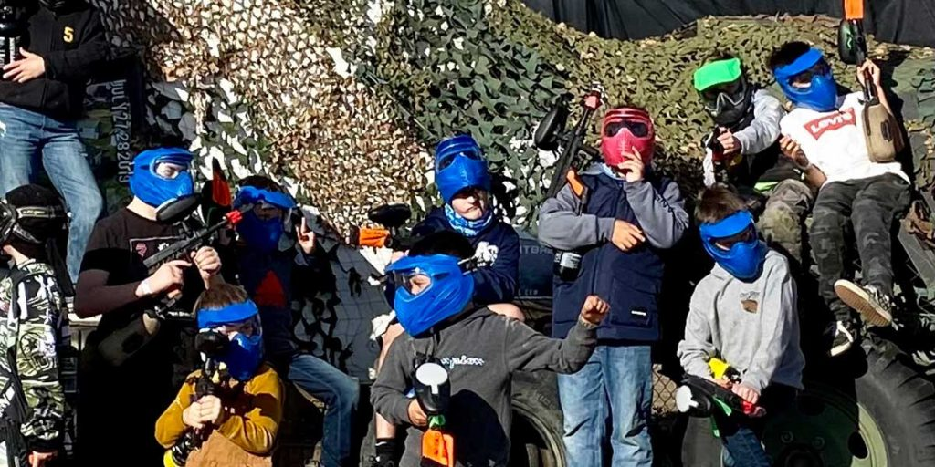 Photo of kids playing Paintball Lite