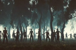 Zombies in field image
